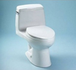 Toto MS854114SG Ultramax 1.6PGF One-Piece Elongated Toilet with SoftClose Seat, SanaGloss Anti-Bacterial Glazing and G-Max Flushing System