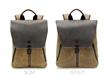 The Staad BackPack —Slim and Stout sizes side by side