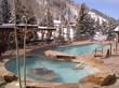 Favorite apres-ski spot: Antlers at Vail's heated pool and hot tub overlooking Gore Creek offer end-of-day relaxation.
