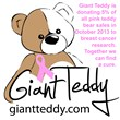 Giant Teddy supports October Breast Cancer Awareness month with donations to breast cancer research from pink bear sales