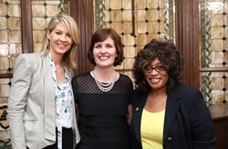 Guests included Jenna Elfman (left) and U.S. Congresswoman Corrine Brown of Florida (right), hosted by National Affairs Office Executive Director Beth Akiyama (center).