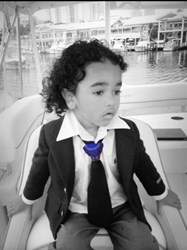 3-Year-Old CEO Tim models Insta-Knot tie