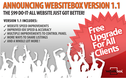 websitebox ugrade,websitebox improvements,improved IDX,faster speed