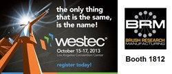 Visit BRM in Booth 1812 at WESTEC 2013