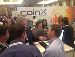 Money2020 2013 attendees at CoinX booth