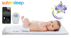 SafeToSleep Baby Monitor with JPMA Innovation Award Seal for ABC Kids Expo