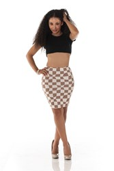 The Checkmate Pencil Skirt by A2M USA