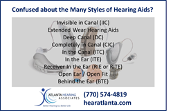Hearing Aid Model List from Atlanta Hearing Associates of Dunwoody GA