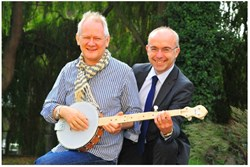 Simon Middleton and Nigel Cushion, creators of The Shackleton Banjo project