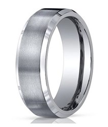 Men's Designer Titanium Wedding Ring