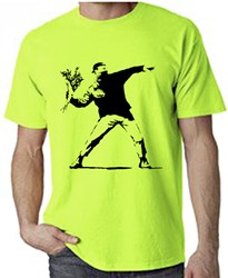 Banksy flower thrower t-shirt