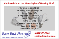 Hearing Aid Type List from East End Hearing of Long Island NY