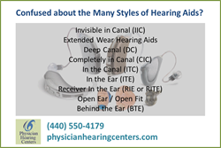 Hearing Aid Style Guide from Physician Hearing Centers of Cleveland OH