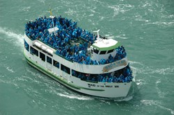 Maid of the Mist passengers stay dry during Niagara Falls ride