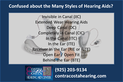 Hearing Aid Type Guide from Contra Costa Hearing Aid Center of Walnut Creek CA
