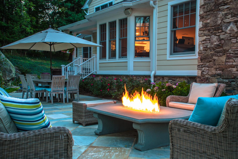 new outdoor fire pit u0026 fireplace bergen county nj