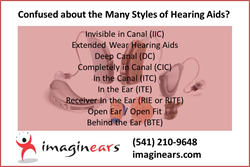Hearing Aid Style List from Imaginears of Medford OR