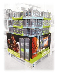 Unilever men's mixed products Pallet Display