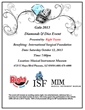 Read flyer to learn more about the 2013 Diamond and Dice Event
