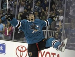 Tomas Hertl of the San Jose Sharks