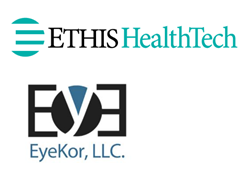 Ethis Healthtech and EyeKor logos