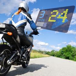 Motorcyclist using Bike HUD