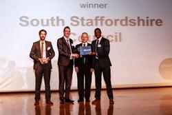 South Staffordshire Council receiving their Award