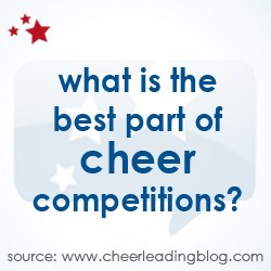 The October poll focused on cheerleading competitions