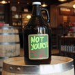 Chalkboard Beer Growler - Amber Glass - 64 oz
