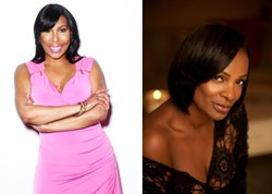 Ebony Steele and Vanessa Bell Calloway co-host the Hairfinity breast cancer awareness campaign.