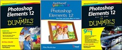 Photoshop Elements 12, books, Wiley, For Dummies, Teach Yourself VISUALLY