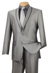 New Silver Tuxedo in Shawl Lapel