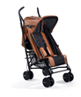 The bo stroller features four recline angles, adjustable leg rest and a hand brake, and, when closed, will not fall over when leaning against the wall in the vertical position