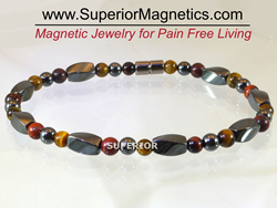 Gemstone magnetic anklet for pain relief
