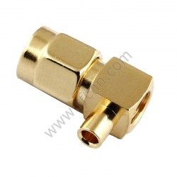 SMA Male Crimp Right Angle for RG405 RF Connector