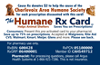 Humane Rx Card for the Charlevoix Area Humane Society.