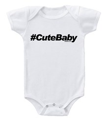 Hash tag baby onesies and kids t-shirts