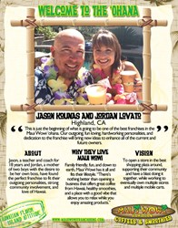 Maui Wowi introduces new franchisees Jason Kounas and Jordan Lovato.