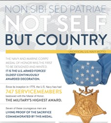Living U.S. Navy Medal of Honor Recipients Infographic from iFreedom Direct