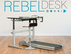 Rebel Desk Treadmill Desk Glass