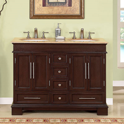 silkroad exclusive double 48 Bathroom Vanity, hyp-0224-uwc-48
