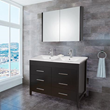 Vigo VG09042002K 48-inch Maxine Double Bathroom Vanity with Medicine Cabinet