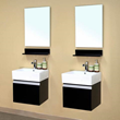 "Bellaterra Home 203145-D - 41"" Double wall mount style sink Bathroom Vanity-wood-Dark Espresso"