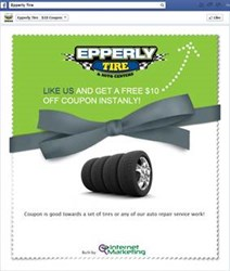 Epperly Tire Like Us and Save App