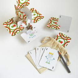 A customizable and buildable set of playing cards from Urban Canvas.