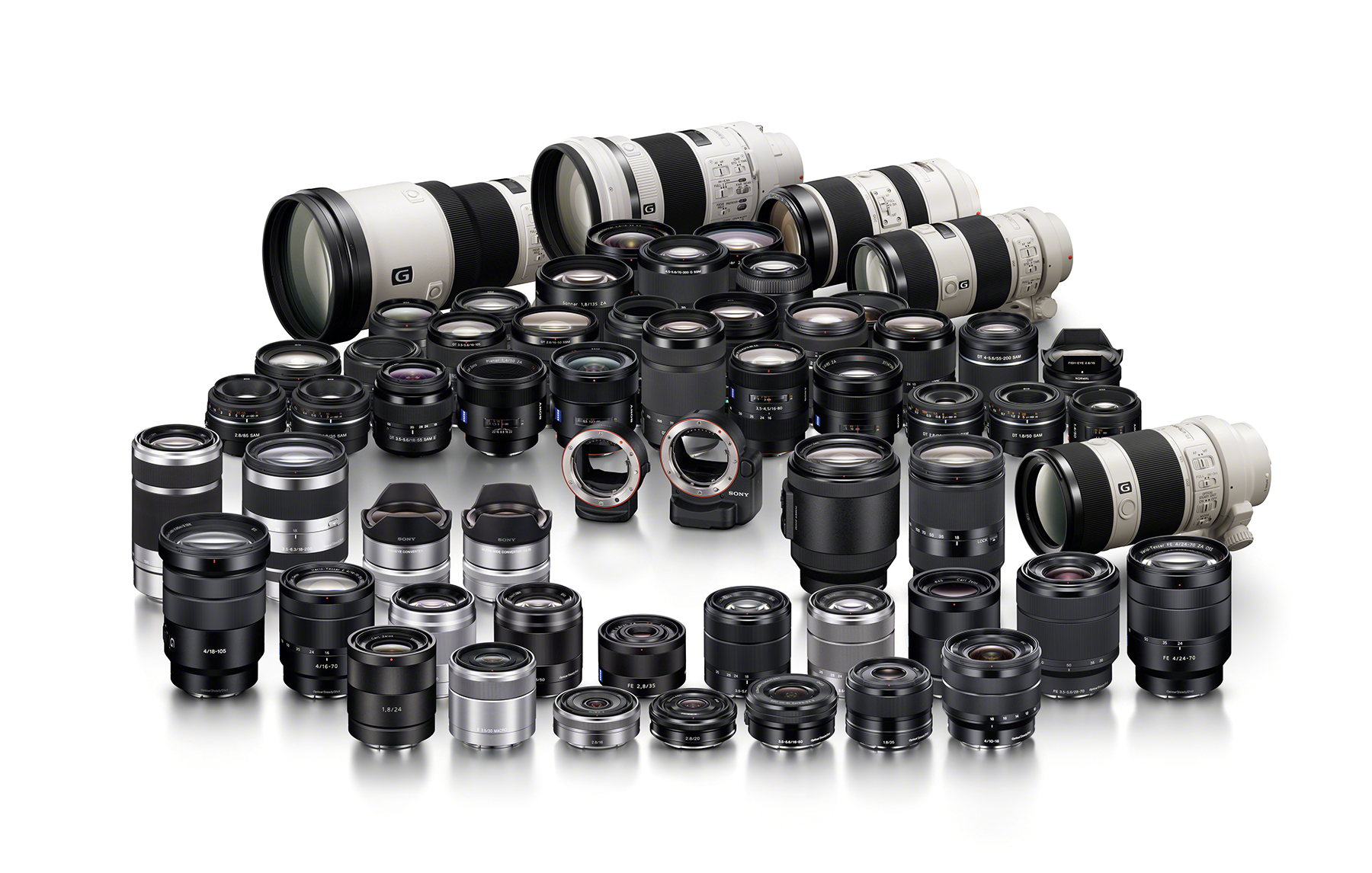 sony has more aps c and full frame lenses than pentax this is too easy