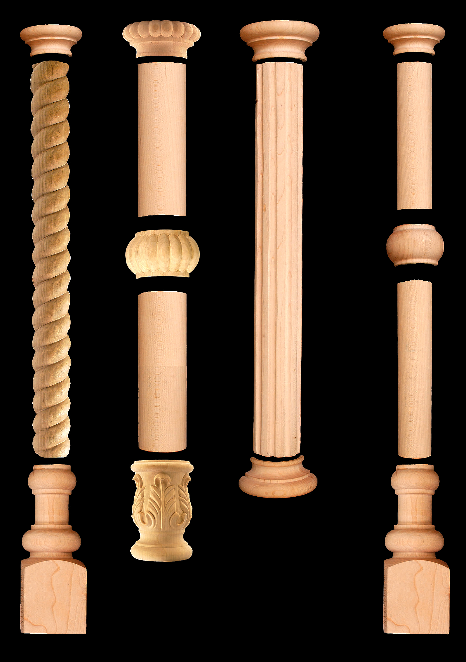 Wooden Pillars Designs : Outwater introduces its updated design a column decorative