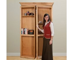 bi-fold hidden door