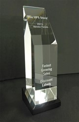 The UPS Store award for Fastest Growing Sales to Discount Labels