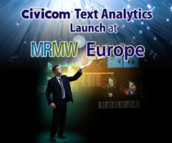 Civicom Text Analytics Launch at MRMW Europe